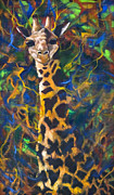 Oil On Masonite Posters - Giraffe Poster by Rene