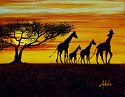Phone Cases Prints - Giraffe Silhouette  Print by Adele Moscaritolo