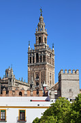 Old Structure Framed Prints - Giralda Tower in Seville Framed Print by Artur Bogacki