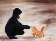 Anastasiya Malakhova - Girl and a Cat