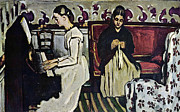John Peter Art - Girl at Piano by Cezanne by John Peter