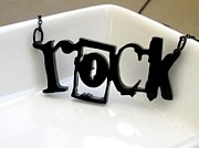 Perspex Necklace Art - Girl Can Rock Necklace by Rony Bank