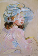 Featured Prints - Girl Carrying a Basket Print by Berthe Morisot