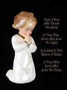 I Die Framed Prints - Girl Childs Bedtime Prayer Framed Print by Kathy Clark