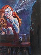Bartender Paintings - Girl in a Glass #11 by Susi LaForsch