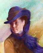 Boldini Posters - Girl in Blue Hat Poster by Judith Huth