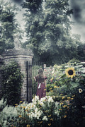 Vernal Photos - Girl In Gardens by Joana Kruse