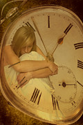 Dreamlike Photos - Girl In White Dress In Pocket Watch by Christopher and Amanda Elwell