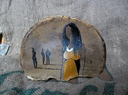 Original  Reliefs - Girl In Yellow by Ildiko Decsei