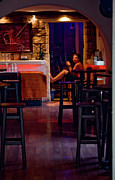 Waitress Posters - Girl Inside the Cafe Poster by Lorraine Devon Wilke