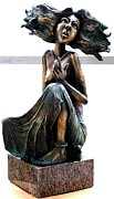 Figurative Sculpture Metal Prints - Girl Metal Print by Markus Czarne