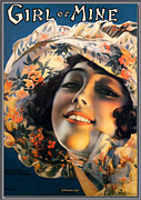 Magazine Cover Digital Art - Girl Of Mine by Rolf Armstrong