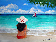 Amy Scholten - Girl on a Turquoise Beach