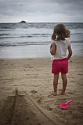 Kevin Barske Prints - Girl on Beach Print by Kevin Barske