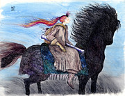 Elizabeth  Berg - Girl on Black Horse
