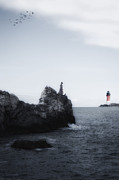 Light House Photos - Girl On Cliffs by Joana Kruse