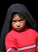 Peruvian Tribe Prints - Girl on Taquile Island Print by James Brunker