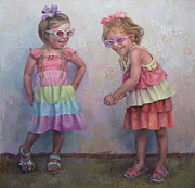 Playing Painting Originals - Girl Power by Cathy Locke