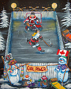 Ice Hockey Paintings - Girl Power by Jill Alexander