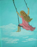 Swing Paintings - Girl Swinging  by James Ivey