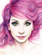 Olga Shvartsur - Girl with Magenta Hair