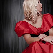 Blond Photos - Girl With Red Dress by Joana Kruse