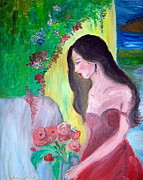 Farfallina Art -Gabriela Dinca- - Girl with roses