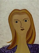Modigliani Originals - Girl with Sunshine Hair by Bisai Ya