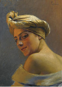 Greek Artists - Girl with Turban by Theodoros Rallis