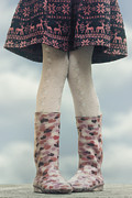 Red Skirt Prints - Girl With Wellies Print by Joana Kruse