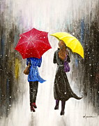 Long Street Paintings - Girlfriends by Kume Bryant