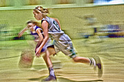 Ron Roberts Photography Prints - Girls Basketball Print by Ron Roberts