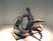 Fired Sculptures - Girls by Flow Fitzgerald