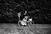 Bike Pyrography Originals - Girls On Bike 2012 by Dorota Porebska