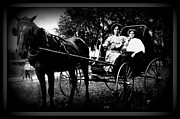 Horse And Buggy Digital Art Posters - Girls Outing Poster by Sheri McLeroy