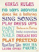 Girls Rules Print by Debbie DeWitt