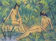 Otto Muller or Mueller - Girls Sitting By The Water
