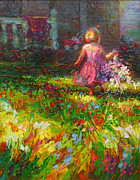 Impressionism Painting Acrylic Prints - Girls will be Girls Acrylic Print by Talya Johnson