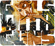 Film Noir Digital Art - Girls With Guns Logo by Sasha Keen