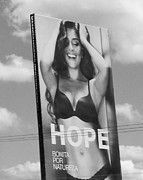 Sao Paulo Framed Prints - Gisele Hope Lingerie Billboard Framed Print by Julie Niemela