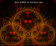 Lyrical Digital Art - Give Love On Christmas Day by Ester  Rogers