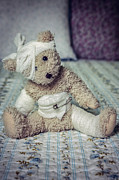 Teddy Bear Framed Prints - Give Me Some Comfort Framed Print by Joana Kruse