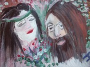 Beatle Painting Originals - Give peace a chance by Judith Desrosiers