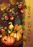 Inspirational Prints - Give Thanks-81312 Print by Jean Plout