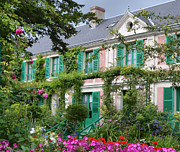 Turquoise Jade Prints - Giverny Home of French Impressionist Painter Claude Monet Print by Carla Parris