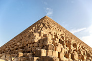 Religion Photo Framed Prints - Giza pyramid detail Framed Print by Jane Rix