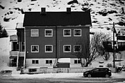 Apartment Houses Prints - Gjenreisingshus Apartment Houses Strandgata Havoysund Finnmark Norway Europe Print by Joe Fox
