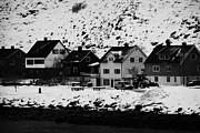 Apartment Houses Prints - Gjenreisingshus Apartment Houses Strandgata Havoysund Finnmark Norway Print by Joe Fox