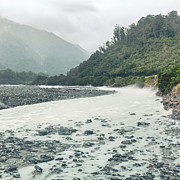 Overcast Day Photo Posters - Glacial river Poster by MotHaiBaPhoto Prints