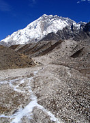 Mt Everest Base Camp Prints - Glacial River Print by Tim Hester